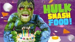 Hulk Smash Food Challenge! Thor Ragnarok Movie Gear Test & Toys Review by KIDCITY