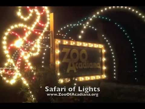 Safari of Lights at the Zoo of Acadiana YouTube