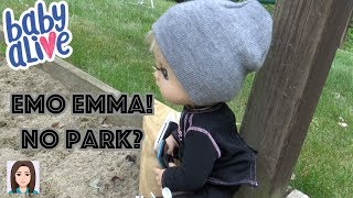 Emo Emma! Emma Doesn't Want To Go To The Park?