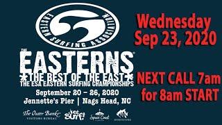 2020 ESA EASTERNS  Wednesday Sep. 23 / Day 1