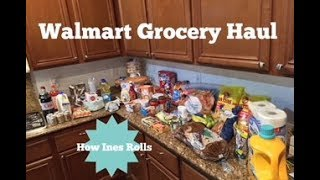 WALMART GROCERY HAUL | Family of 6 with $145  | *How Ines Rolls*