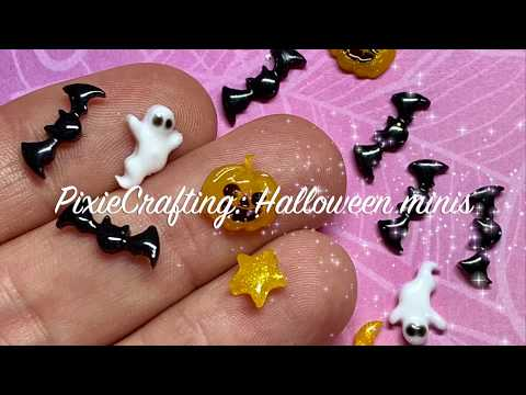 PixieCrafting: Halloween minis * DIY - Anleitung - Watch me craft * UV Harz/Resin *