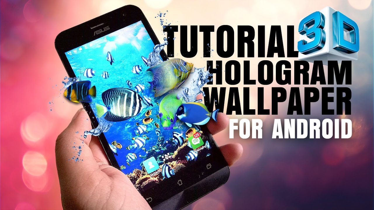 3d holographic wallpaper