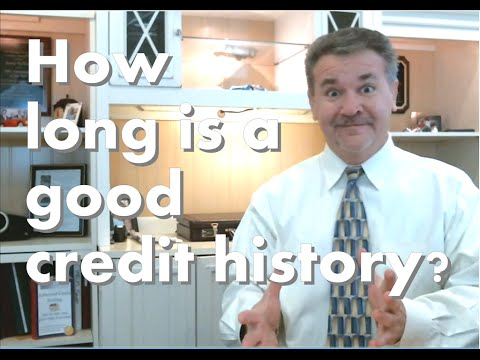 How long is a good credit history? What is the most important thing about your credit history?