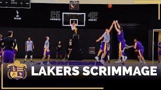 Lakers 5-On-5 Practice Scrimmage Footage: Kyle Kuzma, Brook Lopez, Larry Nance Jr.
