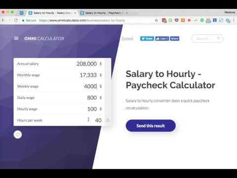How To Convert Salary To Hourly