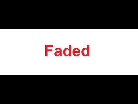 Faded Meaning In Hindi