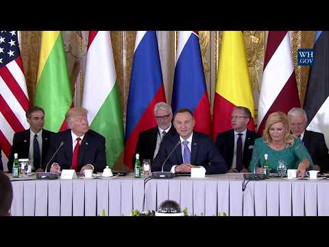 President Trump Gives Remarks at Three Seas Initiative Summit