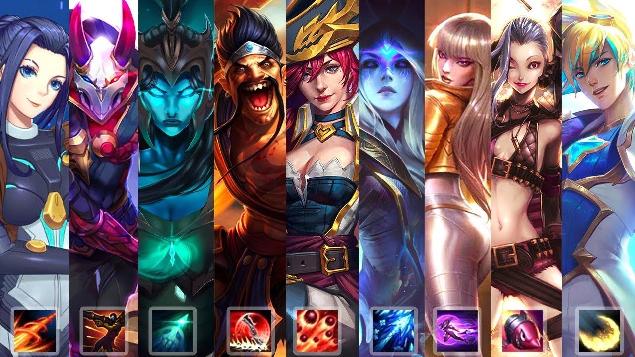 Top 100 Best Adc Champion Plays Lol 2019 League Of Legends Gods