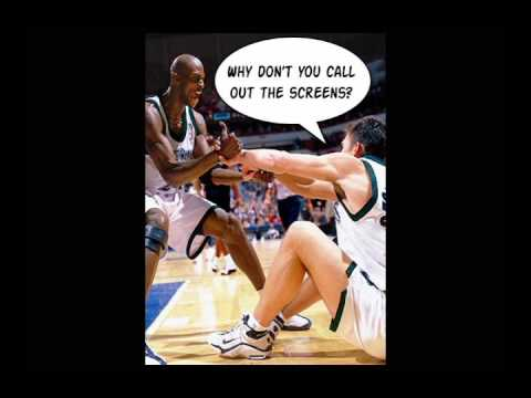Kevin Garnet fights punches Wally Szczerbiak - NEVER BEFORE SEEN FOOTAGE