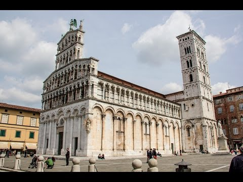 The charm of the city streets Lucca - Italy