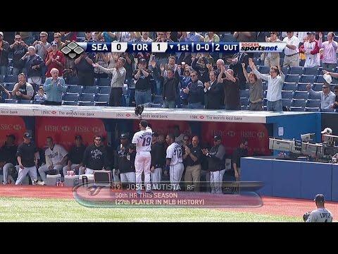 Bautista belts home run No. 50