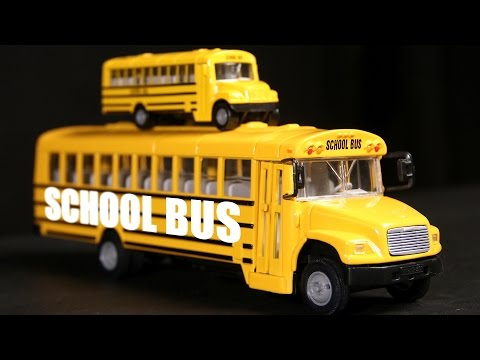 School Bus | Learn About Vehicles | Transportation Video for Kids | Wheels On The Bus Rhyme