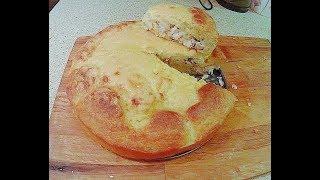 Пирог с Куриной грудкой и Сыром. Очень просто и быстро!