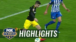 Hertha Berlin vs Borussia Dortmund  2017-18 Bundesliga Highlights