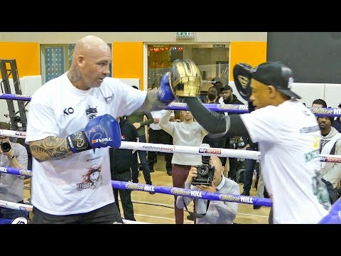 Lucas Browne Public Workout ahead of his heavyweight clash with Dillian Whyte
