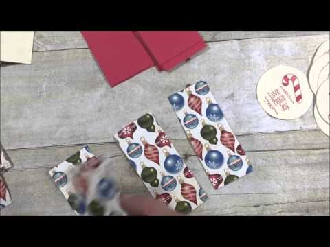 18 Christmas Cards  (one sheet wonder card)