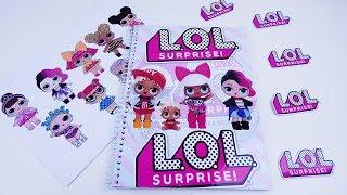 Como Fazer Caderno Das Bonecas LOL SURPRISE Em Português! Bonecas LOL Surprise Tutorial