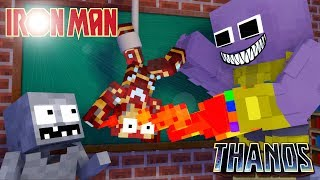 Monster School : THANOS VS IRON MAN Challenge - Minecraft Animation