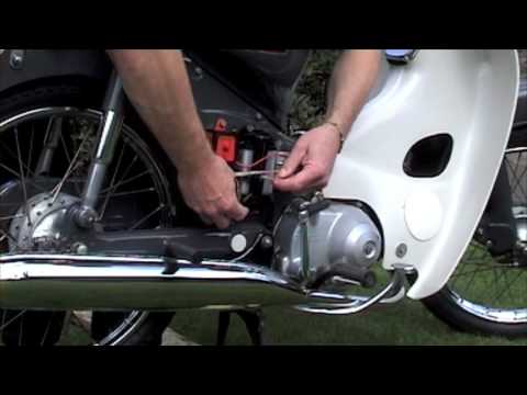 Honda C90 - Battery install  Cold Start - The Failed One - YouTube