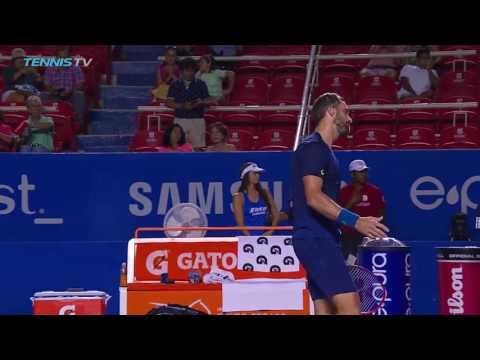 Goffin & Johnson in 2017 Acapulco Tennis Monday Highlights