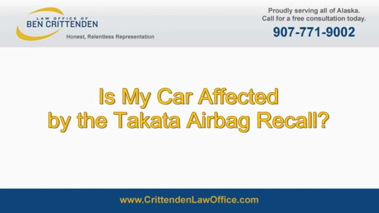 is my car affected by the takata airbag recall youtube. Black Bedroom Furniture Sets. Home Design Ideas