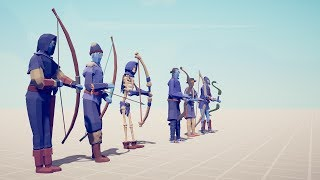 ALL ARCHERS vs EVERY UNIT - Totally Accurate Battle Simulator TABS