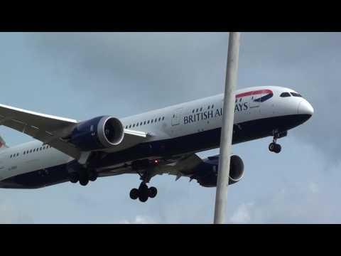 British Airways Boeing 787-900 Dreamliner G-ZBKF Landing London Heathrow 27L