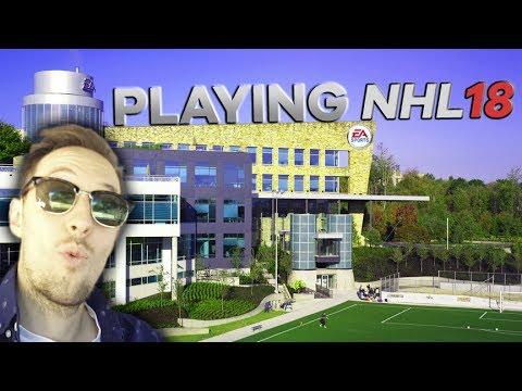 PLAYING NHL 18 AT THE EA SPORTS STUDIOS! (VLOG)