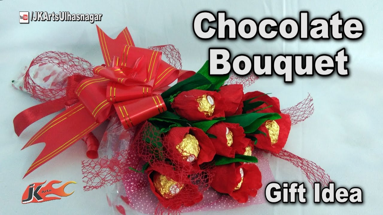 Valentine day gift idea diy how to make chocolate bouquet valentine day gift idea diy how to make chocolate bouquet ferrero rocher bouquet jk arts 1188 izmirmasajfo
