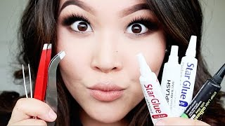ALL ABOUT FAKE LASHES - How to Apply + BEST Lash Glues + MORE | MARLA NYAMDORJ