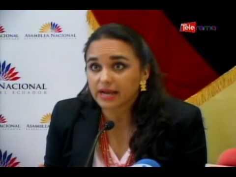Presidenta de la asamblea nacional defiende la ley solidaria
