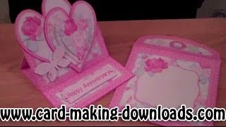 How To Make A Double Heart Easel Card Www.card-making-downloads.com