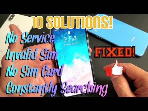 IPhone X/XS/XR: Sim Card Issues - No Service, Constantly Searching, Invalid Sim, No Sim Card (FIXED)