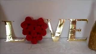 DIY Декорация из картона ко дню Святого Валентина  Valentine