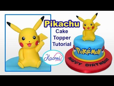 Pokemon: Pikachu Cake Topper / Cómo hacer a Pikachu para tortas