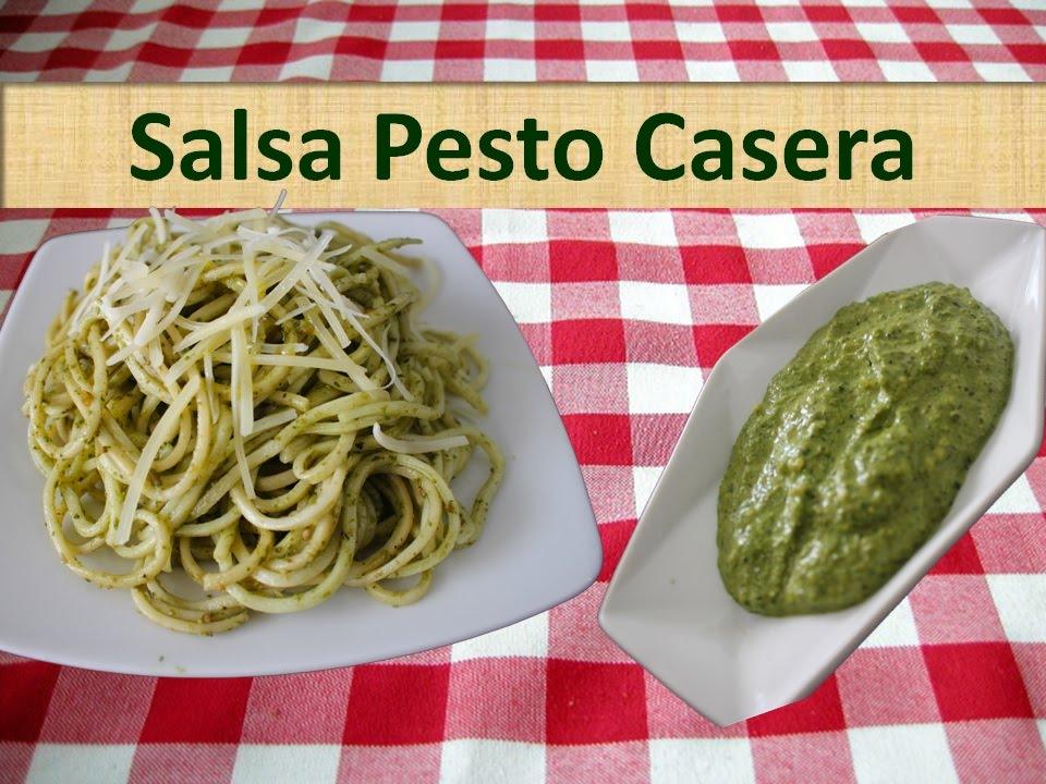 Salsa Pesto Receta Casera Facil De Albahaca Youtube