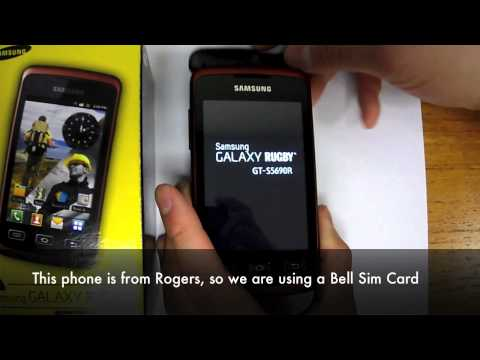 How to Unlock Samsung Galaxy Rugby / Xcover GT-S5690 by Sim Unlock Code