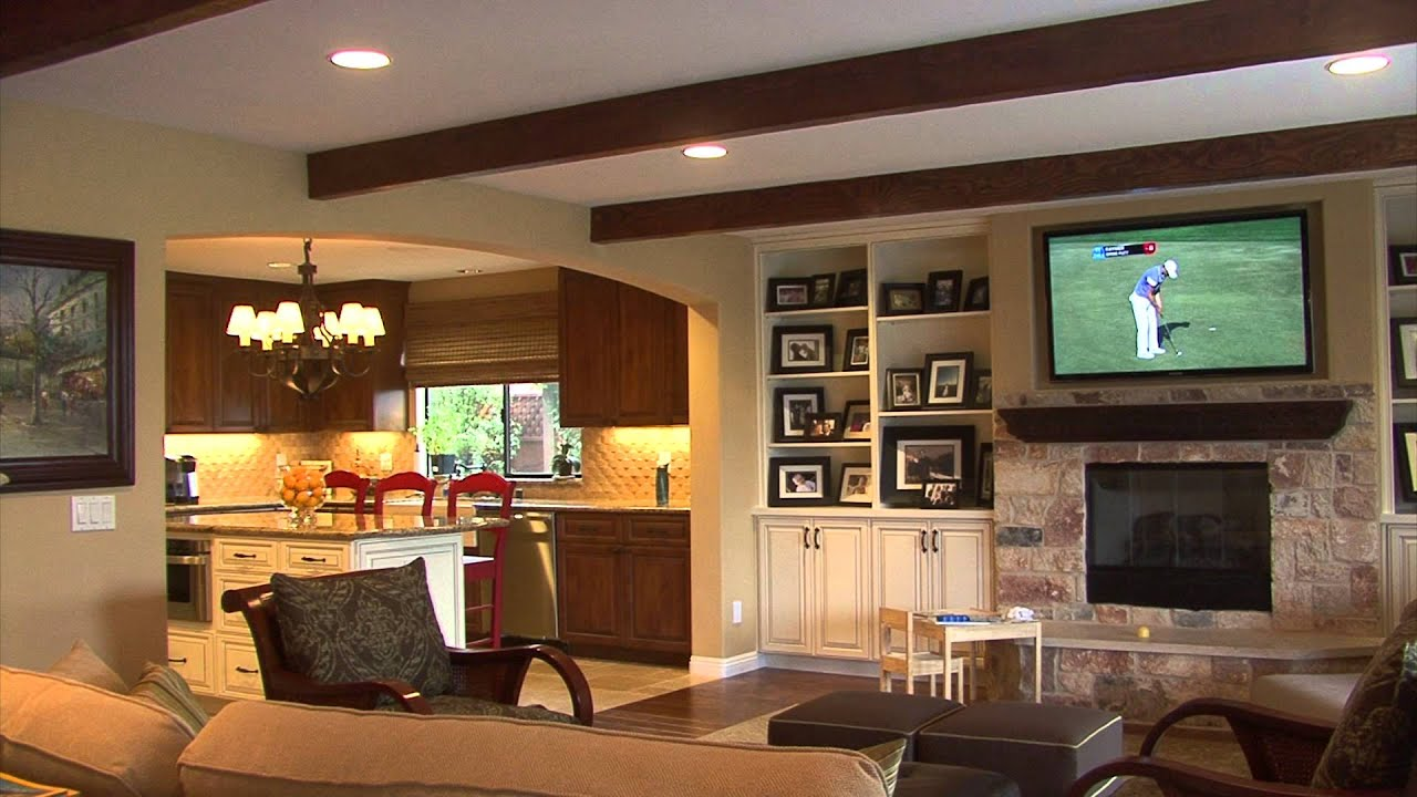 Whole house remodel turns 70 39 s house into dream home youtube for Wallpaper home renovation