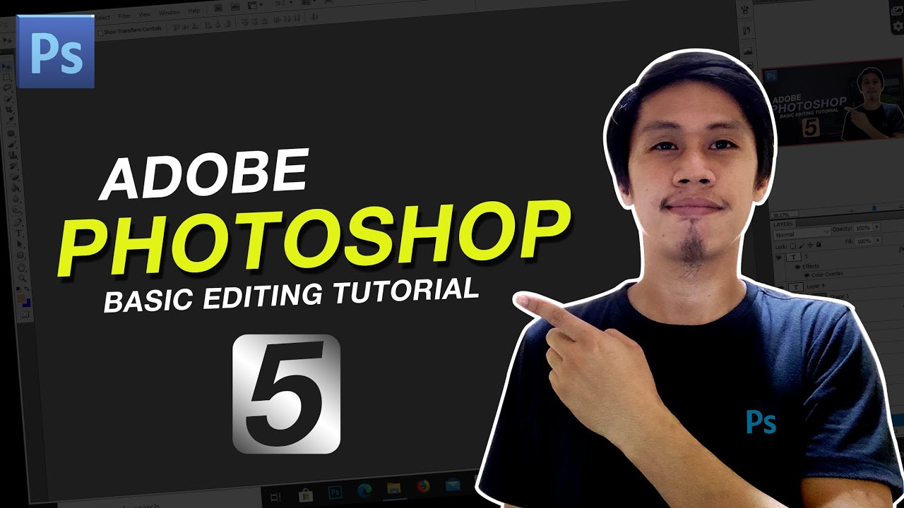 Adobe Photoshop Basic Editing Tutorial Part 5 ( Working with Layers Pallete)