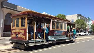 California Street Cable Car 60 @ California St & Polk St San Francisco California (Slow Motion)