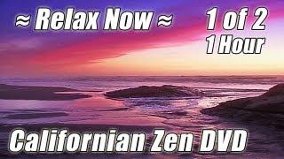 ZEN RELAXATION MEDITATION #1 Relax Ocean Wave Sounds Best Beach Relaxing 1 Hour Californian Waves
