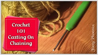 Beginners Crochet - Casting on & Simple Chain Stitch