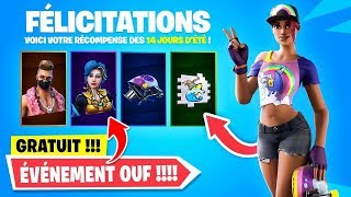 "RECOMPENSES-FREE (skins)-DEFIES ""14 dia de verão"" no FORTNITE!"