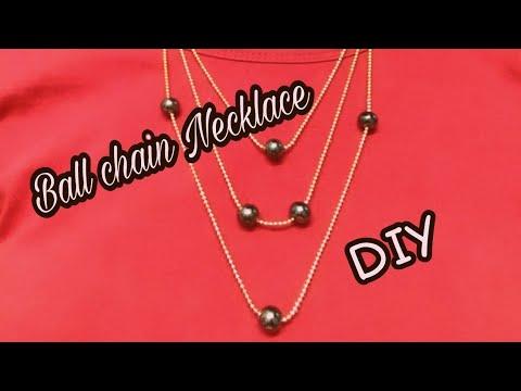 Multi Strand Necklace | Ball chain Necklace | DIY | Sweetutada