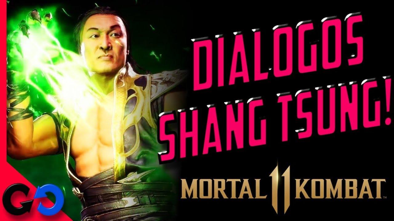 Mortal Kombat 11 Todos los DIÁLOGOS Shang Tsung Español!!