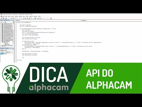 Dica 06 AC | API do Alphacam