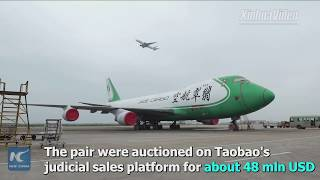 China's first pair of online auctioned aircraft delivered to buyer