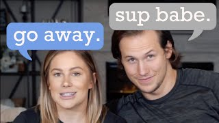 OUR FIRST CONVERSATION (sliding into the DMs) *cringe* | shawn johnson + andrew east