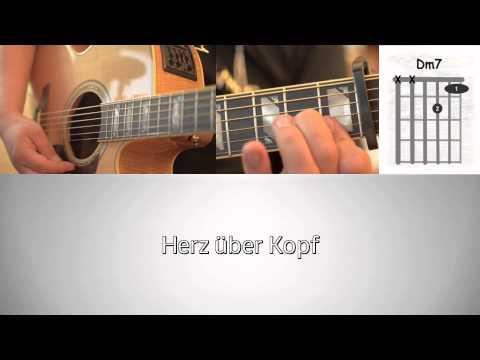 Joris - Herz über Kopf - How to play im Standard Tuning - Akkorde - Guitar Cover - Lyrics